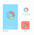 graph company logo app icon and splash page vector image