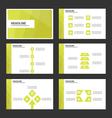 Green Leaf presentation templates Infographic set vector image vector image