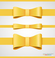holiday golden ribbon and bow vector image