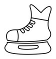 ice hockey skate icon outline style vector image vector image