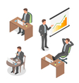 Isometric set of businessmen vector image