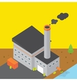 isometric style colorful factory building vector image