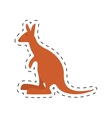 kangaroo australia pet animal dot line vector image