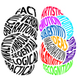 Left brain and right brain vector image
