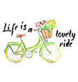 life is a lovely ride vector image vector image