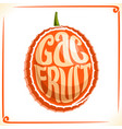 logo for gac fruit vector image vector image