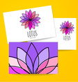 lotus meditation logo sign vector image vector image