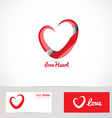 Love red heart logo vector image