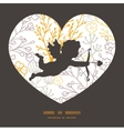 magical floral shooting cupid silhouette vector image vector image
