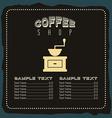 menu good coffee vector image vector image