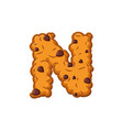 n letter cookies cookie font oatmeal biscuit vector image vector image