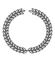 olive crown in monochrome color vector image vector image