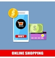 online shopping flat business colorful concept vector image