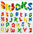 plastic block toys letters vector image vector image