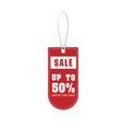 price tag sale up to 50 limited time only vector image