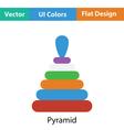 Pyramid toy icon vector image