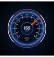 Realistic car speedometer interface vector image vector image