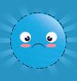 sad emoji emoticon character vector image vector image