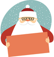 Santa Claus holding empty card vector image