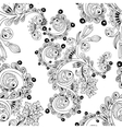Seamless floral pattern with doodles and cucumbers vector image vector image