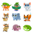 set cartoon animal vector image vector image