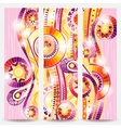 Set of abstract doodle tribal cards vector image