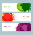 set of sale banners design vector image vector image