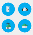 set of simple estate icons vector image vector image