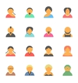 set of simple face avatar people icons vector image