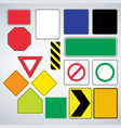 set road signs templates make your own road vector image vector image