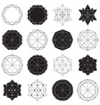 Simple set with black filled and hollow geometric vector image vector image