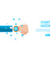 smart watch concept template vector image