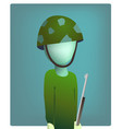 soldier stands still with a gun vector image