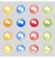 Speech bubble icons Think cloud symbols Set vector image vector image