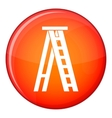 Stepladder icon flat style vector image vector image