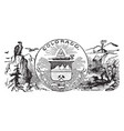 the official state seal of colorado vintage vector image vector image