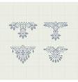 Vintage Decoration Element Line Art Design vector image vector image