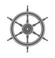 Vintage marine steering wheel vector image