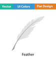 Writing feather icon vector image