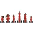 Chess pieces with Great Britain flag vector image