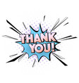 pop art thank you quote greeting car vector image