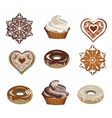 Sweets set for winter season vector image