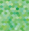 Abstract background green hexagons vector image