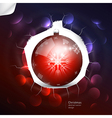 Abstract christmas ball on dark background vector image vector image