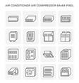 air conditioner icon vector image vector image