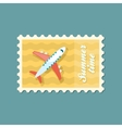 Aircraft stamp Travel Summer Vacation vector image vector image