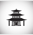 asian traditional house on white background vector image