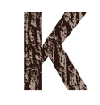 bark letter K vector image vector image