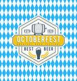 Beer festival Octoberfest celebration Retro style vector image