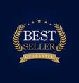 best seller logo vector image vector image